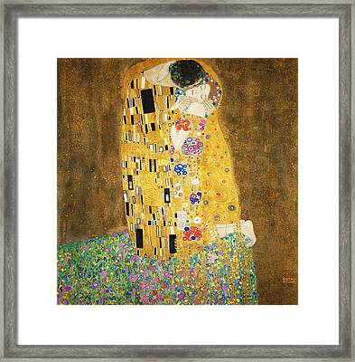 The Kiss Framed Print by Masterpieces Of Art Gallery