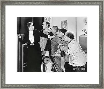 Three Stooges - Larry Moe And Curly Framed Print