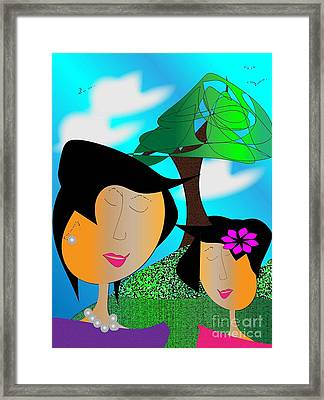 Together Framed Print by Iris Gelbart