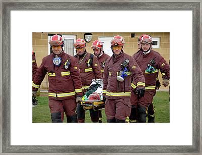 Training Exercise For Major Emergency Framed Print