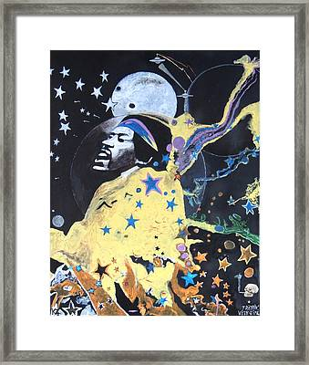 Trippin' With Jimi. Framed Print by Ken Zabel