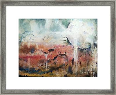 Dreaming Moon Framed Print by Amy Williams