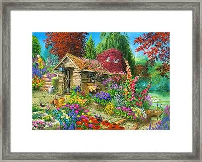 The Garden Shed Variant 1 Framed Print by John Francis
