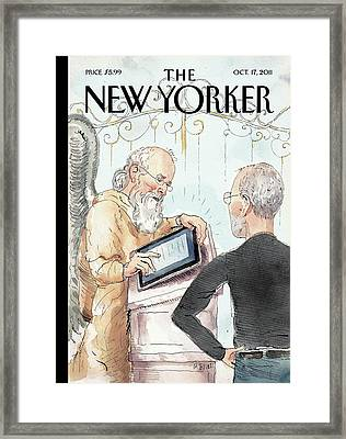 New Yorker October 17th, 2011 Framed Print