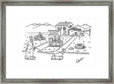 New Yorker April 18th, 2005 Framed Print by Eric Lewis