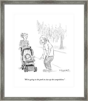 We're Going To The Park To Size Framed Print