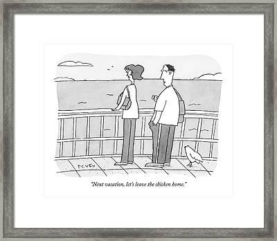 Next Vacation Framed Print