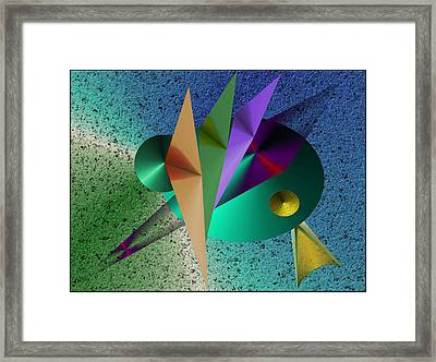 Abstract Bird Of Paradise Framed Print