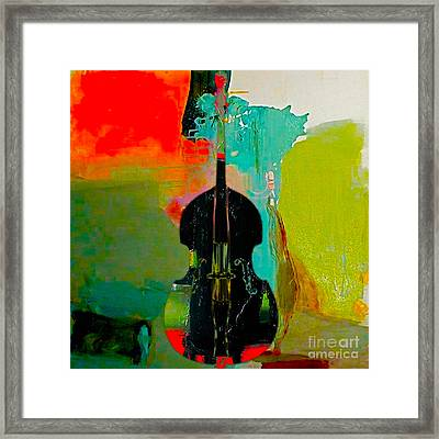 Upright Bass Framed Print by Marvin Blaine