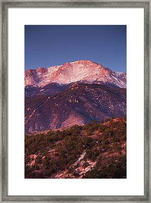 Usa, Colorado, Colorado Springs, Garden Framed Print by Walter Bibikow