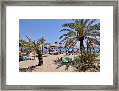 Vai Beach Framed Print by George Atsametakis