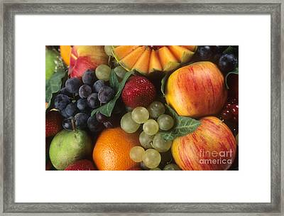 Variety Of Fruits Framed Print by Bernard Jaubert