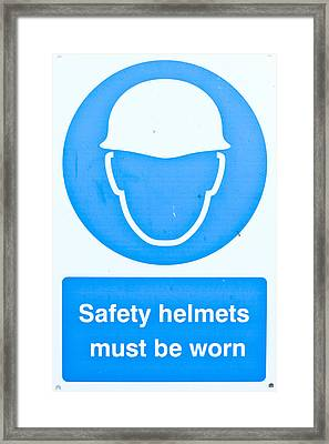 Warning Sign Framed Print