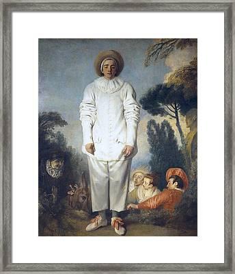 Watteau, Jean-antoine 1684-1721 Framed Print by Everett