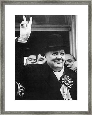 Winston Churchill Framed Print by Granger