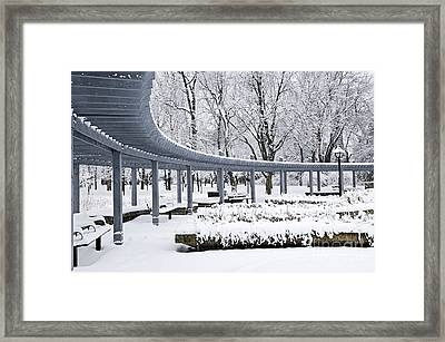 Winter Park Framed Print by Elena Elisseeva
