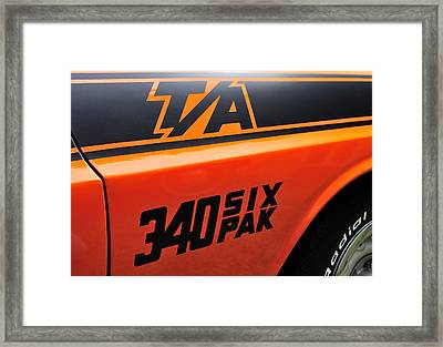 70 Dodge Challenger T-a Framed Print by Thomas Schoeller