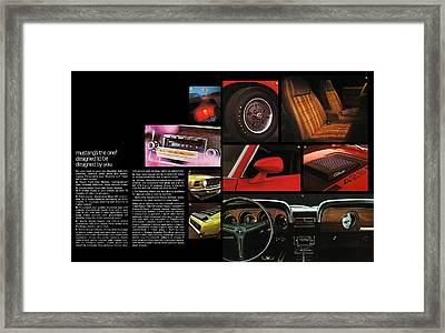 '70 Mustang Options Framed Print by Digital Repro Depot