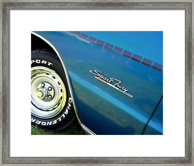 70 Plymouth Sport Fury Gt Details Framed Print by Thomas Schoeller