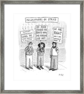 New Yorker December 3rd, 2007 Framed Print by Roz Chast