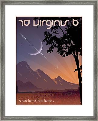 70 Virginis B Travel Poster Framed Print by Mark Garlick