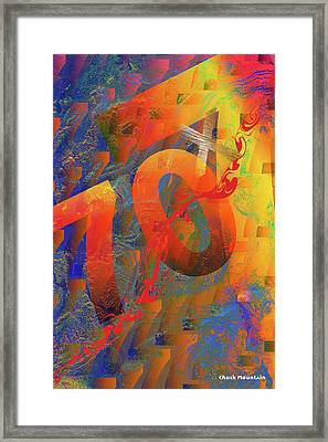 Framed Print featuring the digital art 70 X 7 by Chuck Mountain