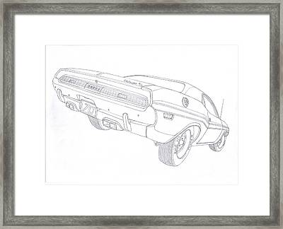 70 dodge challenger rt drawing by kaan ipek 2015 Dodge Challenger 70 dodge challenger rt framed print by kaan ipek