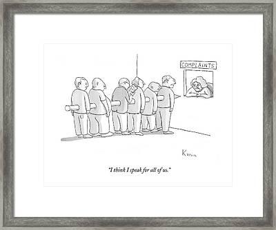 I Think I Speak For All Of Us Framed Print by Zachary Kanin