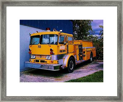 Framed Print featuring the photograph 710 ....... Fire Dept. by Daniel Thompson