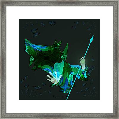 711 - Those Flying Things Of Night  - Halloween Framed Print by Irmgard Schoendorf Welch