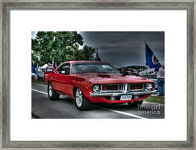72 Cuda Framed Print by Tommy Anderson