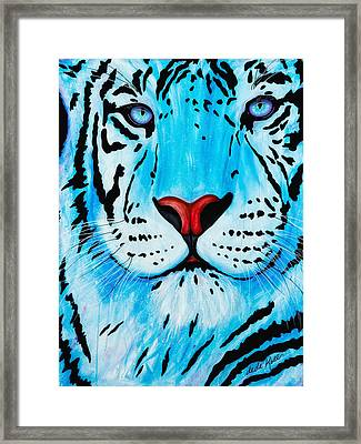 Blue Bengal Framed Print