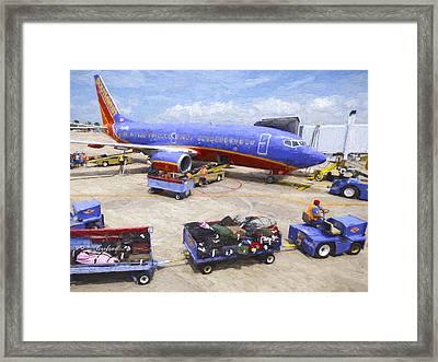 737 Framed Print by Garland Johnson