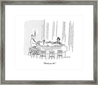 Thank You, Sir Framed Print by Mick Stevens