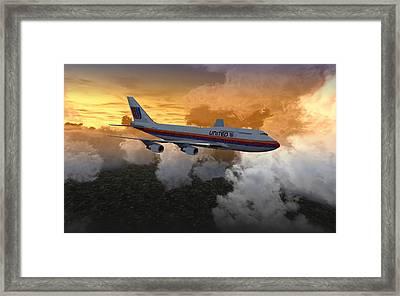 747 28.8x18 03 Framed Print