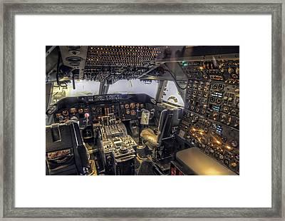 747 Cockpit Framed Print