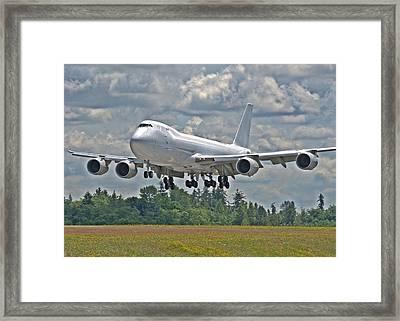 747 Landing Framed Print by Jeff Cook
