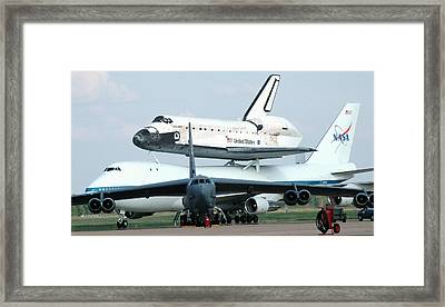 747 Transporting Discovery Space Shuttle Framed Print