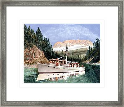 yachting in Desolation Sound Framed Print