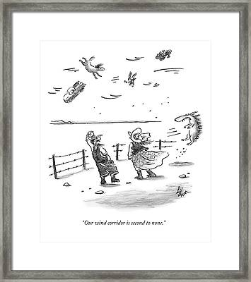 Our Wind Corridor Is Second To None Framed Print