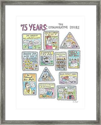 '75 Years:  The Commemorative Issues' Framed Print