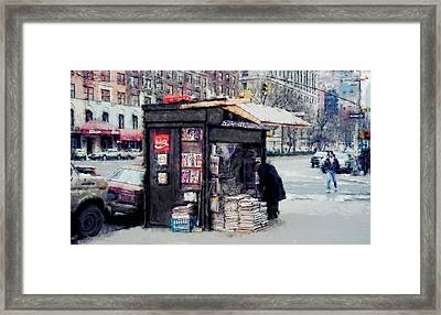 75th And Broadway Newsstand - New York Framed Print