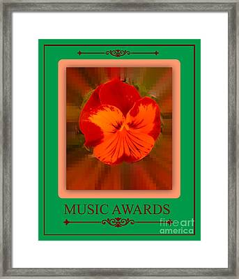 Music Awards Framed Print by Meiers Daniel