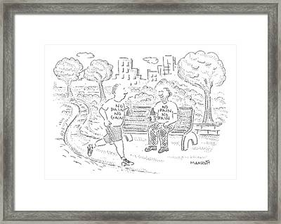 New Yorker April 13th, 2009 Framed Print by Robert Mankoff