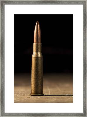 7.62 X 54mmr Framed Print by Andrew Pacheco