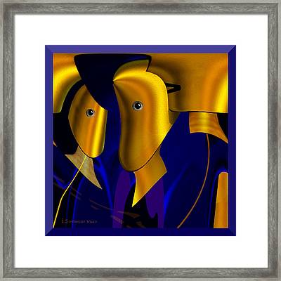 779 - Mankind Future ... Framed Print by Irmgard Schoendorf Welch