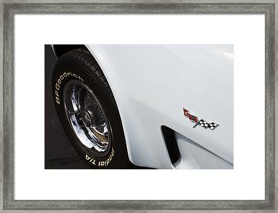 '78 Vette Framed Print by Mike Maher