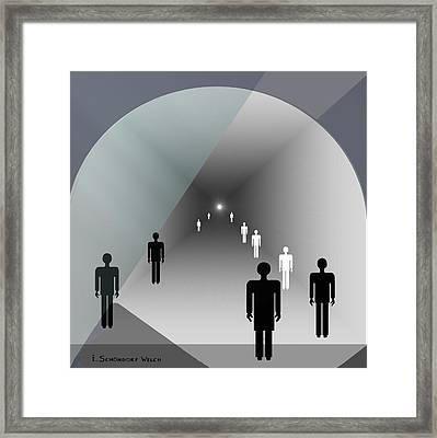 789 - Light At The End Of The Tunnel Framed Print