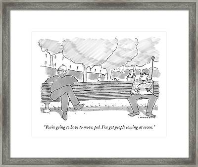 You're Going To Have To Move Framed Print by Michael Crawford