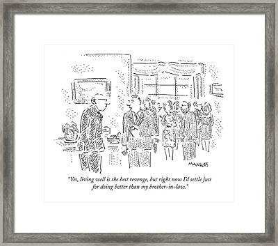 New Yorker September 28th, 2009 Framed Print